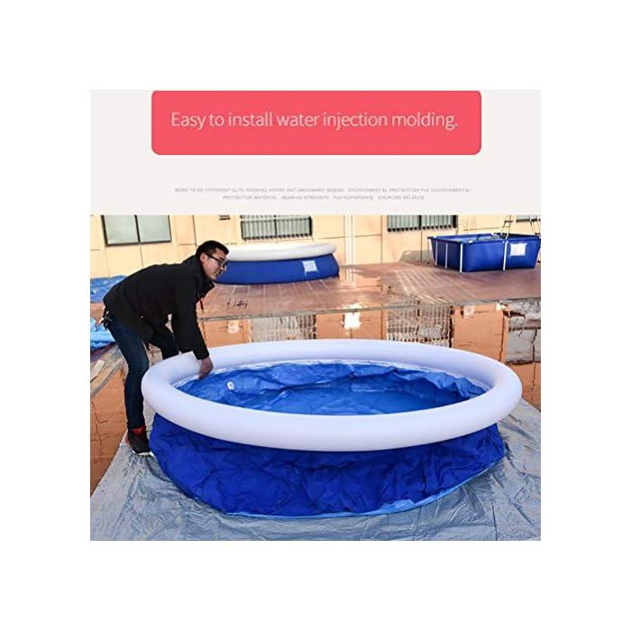 510IEn6SD6L Fácil de instalar: nuestra piscina es fácil de instalar, y llene la piscina inflable con agua unos diez minutos. Diferentes capacidades: las piscinas de diferentes tamaños pueden contener diferentes números de personas, 6 pies x 29 pulgadas pueden contener 2 niños; 8 pies x 30 pulgadas pueden contener 3 niños; 10 pies x 30 pulgadas pueden contener 4 ~ 5 niños; 12 pies x 30 pulgadas pueden contener 5 ~ 6 niños. Por favor elige el tamaño que necesitas. Duradero: nuestras piscinas exteriores están hechas de una capa intermedia de PVC de protección ambiental de alta calidad, protección ambiental e inofensiva. Puede disfrutar de la piscina con su familia en el terreno plano del patio trasero.