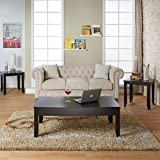 Furniture of America Pelise 3-piece Contemporary Cappuccino Accent Table Set