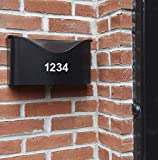 Reflective Sheet of 1 1/2 Inch (White) Numbers Vinyl Custom Street Address Mailbox Decal Stickers Kit