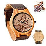 Personalized Customized Wooden Watch with Photo Or...
