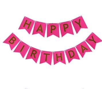 Amazon.com: 1 Set feliz cumpleaños papel banderas guirnalda ...