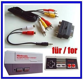 NES AV Cinch Chinch TV Video Kabel + Scart Adapter für Nintendo NES ...