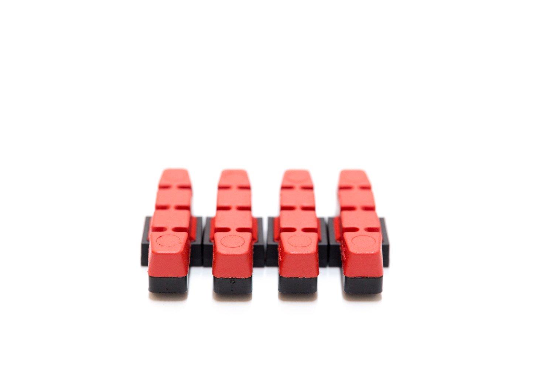 4 St/ück MAGURA Original Bremsbelag hydraulische Felgenbremse HS11 22 24 33 66 rot