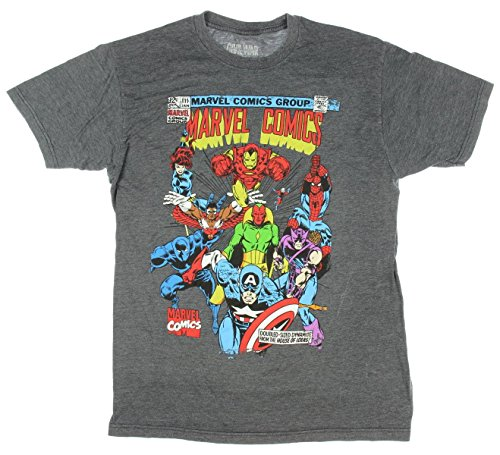 Marvel Comics Super Squad Vintage Cover Graphic T-Shirt