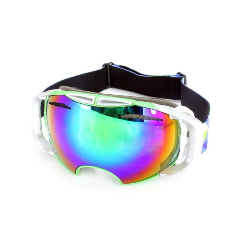 He-yanjing Ski Goggles, Snowboarding Goggle Anti-Fog UV Protection, Ski Goggles for Men and Women, Winter Adult ski Equipment (Color : Green) by He-yanjing