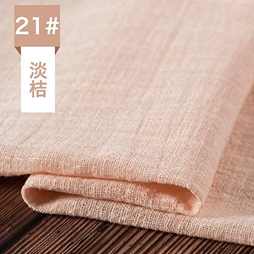 Cotton Fabric - Bamboo Fiber Cotton Fabric Wrinkle Style Breathable Shirt Summer Clothing 100 135cm Piece - On Crat Kona Kids Flowers Cloth Goats Music Tapestry Leggings (Quilt Fabric Cotton Holidays)
