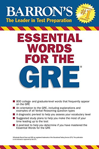Essential Words for the GRE (Barron's Essential Words for the GRE)