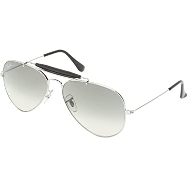 847f74170dd Ray-Ban Outdoorsman II Rainbow Sunglasses Silver Crystal Grey