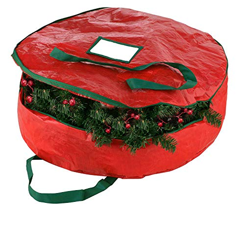 """Christmas Wreath Storage Bag 24""""-Tear Resistant Zippered for sale  Delivered anywhere in USA"""