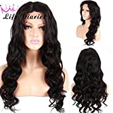 Life Diaries 130% Density Natural Body Wave Glueless Full Lace Wigs 8A Unprocessed Brazilian Virgin Human Hair Natural Hairline Bleached Knot Free Part(18