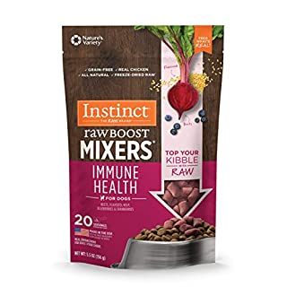 Instinct Freeze Dried Raw Boost Mixers Immune Health All Natural Dog Food Topper, 5.5 oz. Bag