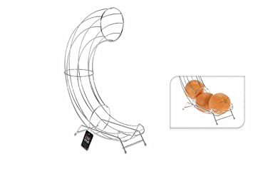 Porte fruits Distributor Basket Fruit Slide Stainless Steel Stylish Roll on  Slide Sliding Apple Orange Holder