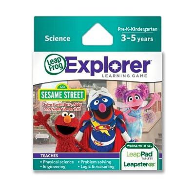 LeapFrog Explorer Sesame Street Solve it with Elmo, Abby and Super Grover 2.0 Learning Game