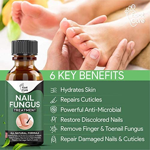 EXTRA STRONG Nail Fungus Treatment -Made In USA, Best Nail Repair Set, Stop Fungal Growth, Effective Fingernail & Toenail Health Care Solution, Fix & Renew Damaged, Broken, Cracked & Discolored Nails 510IHnZm7GL