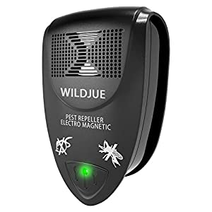 WILDJUE Ultrasonic Pest Repeller[6-Pack]Pest Control Spider repellent, Electronic Plug In Pest Repeller-Repels Roaches,Spiders,Other Insects,Humans&Pets Safe