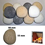 15 Gas Fire Replacement Ceramic Pebbles Replacements/Bio Fuels/Ceramic/Boxed (Mixed)