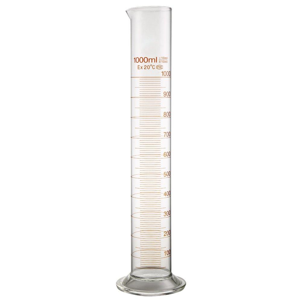 1000/ml vetro Pyrex me/ßzyli nder Cilindro Set Laboratorio Cilindro con spazzola
