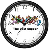 The Last Supper Christian Theme Wall Clock by WatchBuddy Timepieces (Hunter Green Frame)