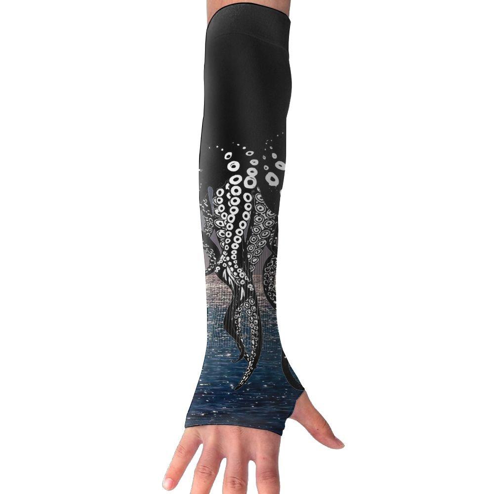 NUNOFOG Octopus Legs Unisex Summer Arm Cover Sleeves Long Fingerless Sun-proof Anti-UV Long Gloves For Outdoor
