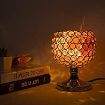 Maymii.Home Gold Stand Ball Sphere Design Crystal Table Desk Lamp Lamps Light With Himalayan Salt Chunks For Bedroom, Living Room Kitchen Nightlight Lights - Dimmer switch and Bulb Include