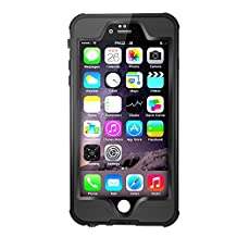Waterpoof Case for iPhone 6 Plus /6S Plus,Merit Knight Series IP68 Certified Case Cover 5.5 Inch(Black)