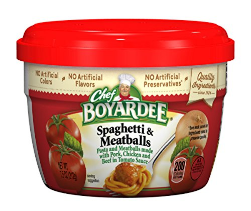 Chef Boyardee Spaghetti & Meatballs in Tomato Sauce, 7.5 oz by Chef Boyardee