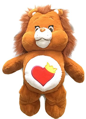 Just Play Care Bears Brave Heart Jumbo Plush 20 inch Brown Lion Care Bears & (Heart Care Bear Plush)