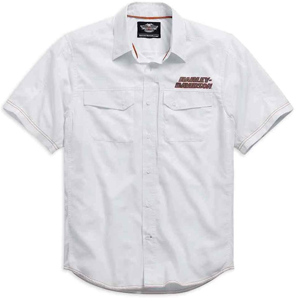 Harley Davidson Mens Stay Cool Performance S S Shirt White 99015