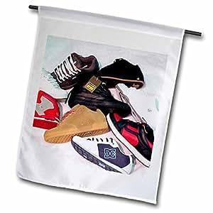 3dRose fl _ 2870_ 1monopatín zapatos, bandera de Jardín, 12por 45,72cm
