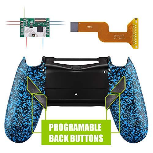Kit de reasignación programable eXtremeRate Dawn para controlador PS4 con Mod Chip y carcasa trasera rediseñada y 4 botones de retroceso - Compatible con JDM 040/050/055 - Azul texturizado