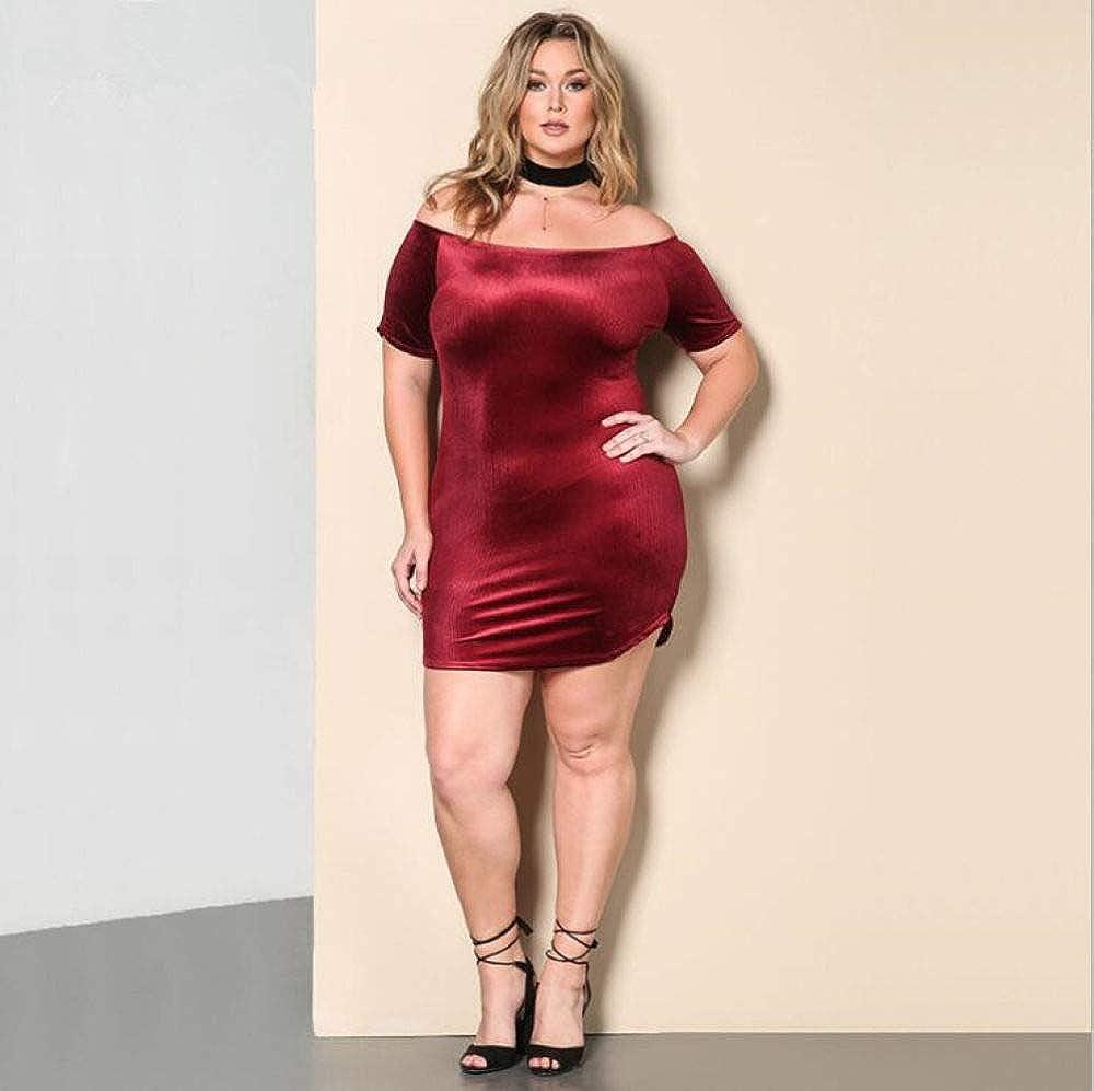 Womens Sexy Dresses,Plus Size Off Shoulder Strapless Elegant Dress