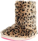 M&F Western Women's Furry Boot Slippers Brown Leopard Slipper MD (Women's 7-8) M