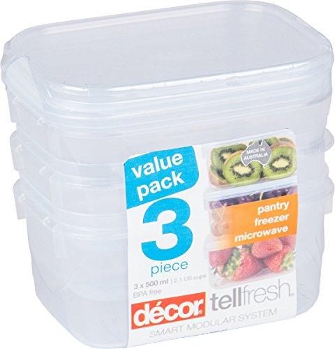 Décor Food Storage Container (3 x 500ML)