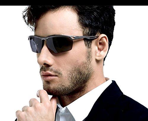 685618b3a6 Duco Men s Sports Style Polarized Sunglasses Driver Glasses Metal Frame  8550 (Gunmetal Frame
