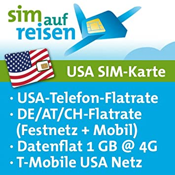 Usa Prepaid Travel Sim Card In T Mobile Usa Network Amazon Co Uk