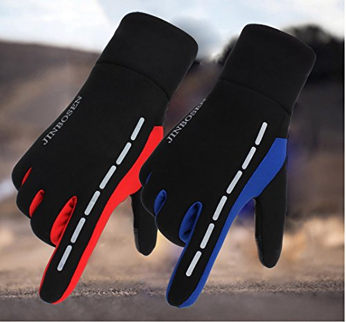 in Black touch aperta corsa fleece antiscivolo guanti Unisex screen Zhhyltt guanti in Winter da Green caldi Sport all'aria bicicletta xwBT0qFS
