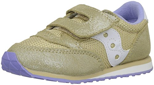 Saucony Girls' Baby Jazz HL Sneaker, Gold/Spark, 7 Medium US Toddler by Saucony