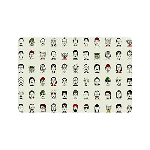 The Characters Of Wes Anderson Non Woven Fabric Door Mat Indoor Outdoor Bathroom Doormat Rugs For Home Office Bedroom 23 6  L  X 15 7  W