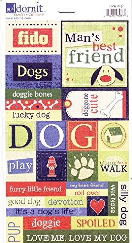 Adorn-It Carolee's Creations Dog Cardstock Stickers, Lucky Dog