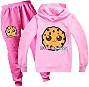 Tpiont Cookie Swirl C Hoodies Set for Boys Girls Hoody + Trousers Unisex Fashion Pullover Hoodies for Kids