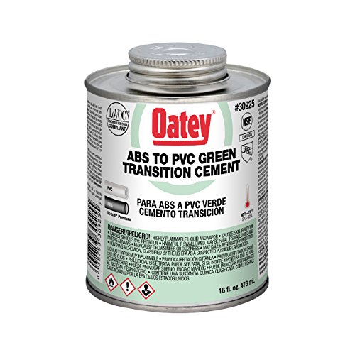 Colored Cement - Oatey 30925 ABS to PVC Transition Cement, Green, 16-Ounce