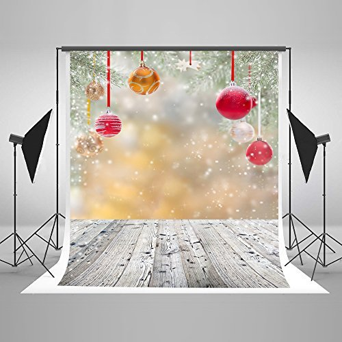 Kate 5ft(W) x7ft(H) Christmas Backdrops Microfiber Christmas Backdrops for Photography Wood Floor Backgrounds