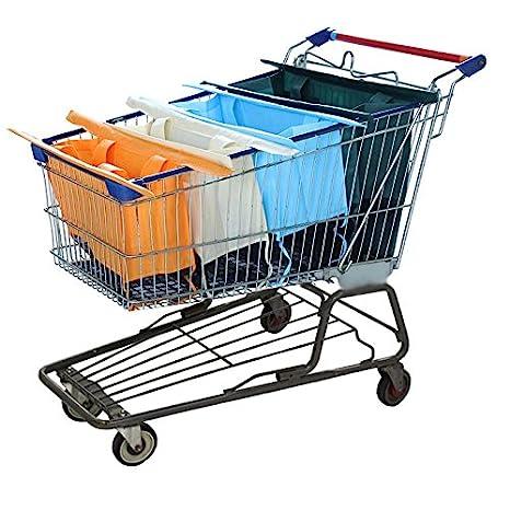 Bolsas para carrito de la compra - 4 bolsas reutilizables ...