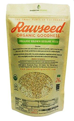 (Rawseed Organic Brown Sesame Seeds 24 oz 1 Pack)