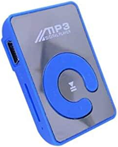 Homephdge Popular Mini Mirror Clip MP3 Player Portable Fashion Sport USB Digital Music Player Micro SD TF Card Media Player