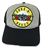 Guns N' Roses Black & Grey Padded Baseball Style Trucker Cap with Plastic Snapback