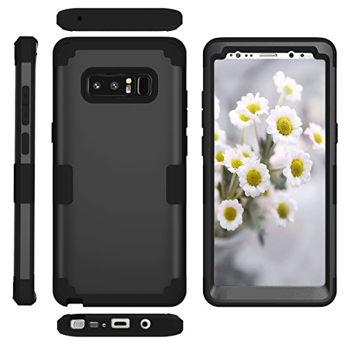 Galaxy Note 8 Case, UZER Three Layer 3 in 1 Hybrid Ultra Defender Hard PC & Soft Silicone Rugged Bumper High Impact Resistant Shock-Absorption Full-Body Protective Case for Samsung Galaxy Note 8 (2 In 1 Bumper Case Note 3)