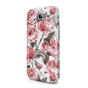 Vintage Floral Flowers Pattern Indie Tumblr Boho Hard Plastic Samsung Galaxy S3 Phone Case Cover