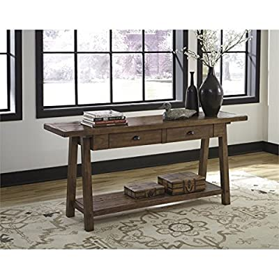 Signature Design by Ashley T863-4 Dondie Sofa Table, Weathered Brown