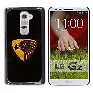 Be Good Phone Accessory // Dura Cáscara cubierta Protectora Caso Carcasa Funda de Protección para LG G2 D800 D802 D802TA D803 VS980 LS980 // Black Brown Gold Eagle